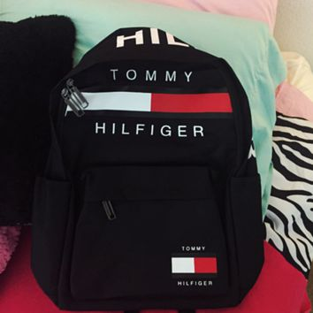 TOMMY HILFIGER: Casual Sport Laptop Bag Shoulder School Bag Backpack