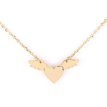Flying Heart Delicate Necklace