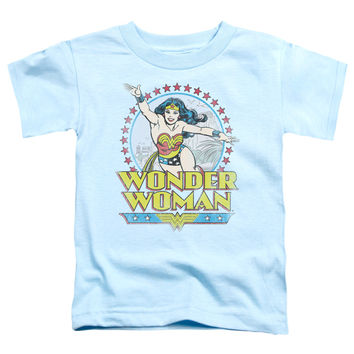 Wonder Woman Star of Paradise Island Light Blue Toddler T-Shirt