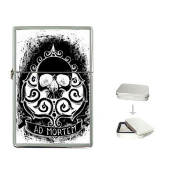 Multiple Listing: Zippo like lighters by Shayne of the Dead, Skulls, dark, day of the dead