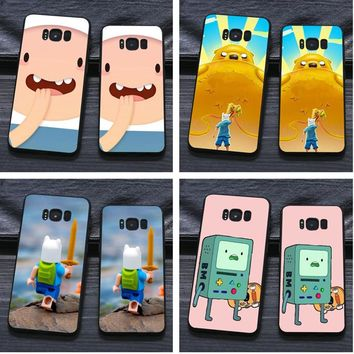 adventure time cute Beemo BMO Jake Finn Lumpy Design Soft Silicone Cover Case for for Samsung Galaxy s9 s8 plus s5 s6 s7 edge