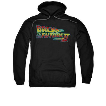Back To The Future II Movie Logo Licensed Adult Pullover Hoodie