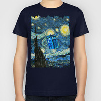 Tardis Doctor Who Starry Night Part 2 Kids T-Shirt by Pointsalestore