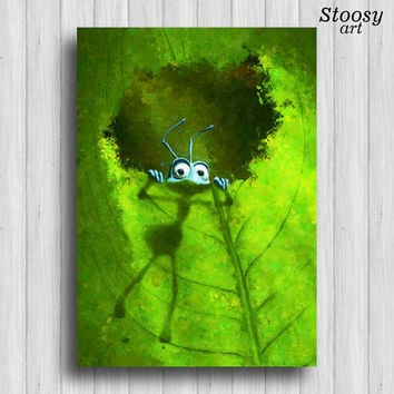 bugs life print flik green nursery disney decor pixar nature nursery