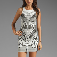 MINKPINK Ring Master Mini Dress in Off White/Black from REVOLVEclothing.com