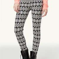 Aztec Wave Brushed Leggings