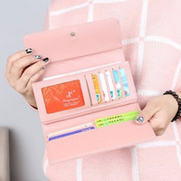Long Tri-Fold Wallet Clutch Purse