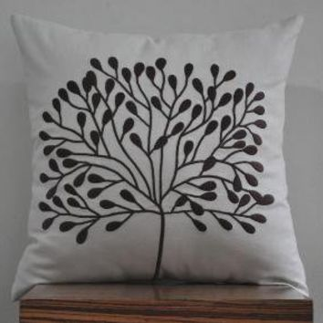 Borneo Tree Throw Pillow Cover 18 x 18 Decorative by Kainkain