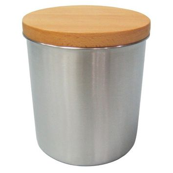 Threshold™ Stainless Steel Canister with Wood Lid - Team Color