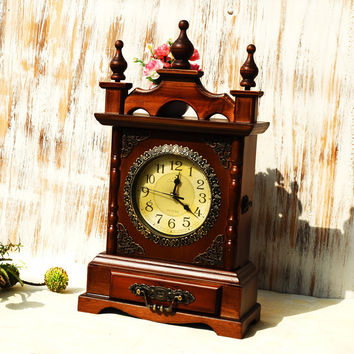 Vintage Clock Home Quiet Accessory Box [6282958470]