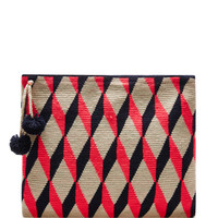 Handwoven Graphic Pouch