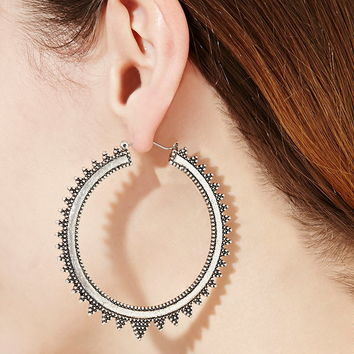Etched Hoop Earrings | Forever 21 - 1000177627