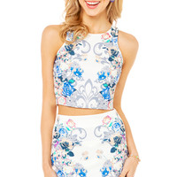 Floral Graphic Mini Skirt
