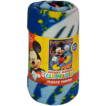 "Kids Fleece Throw Blankets 46"" x 60"" Several Options (Mickey Mouse Club House)"