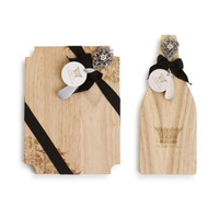 Wood Cutting Board with Spreaders by Demdaco