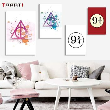 Wall Art Murals Cartoon Poster Harry Potter 9 3/4 Canvas Painting For Children Bedroom Modern Wall Picture Art Prints Home Decor