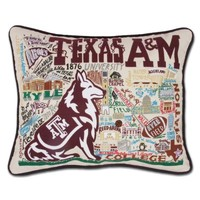 TEXAS A&M UNIVERSITY COLLEGIATE EMBROIDERED PILLOW - collegiate (embroidered) - pillows - shop