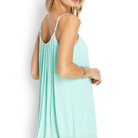 Lace-Edged Slip Dress