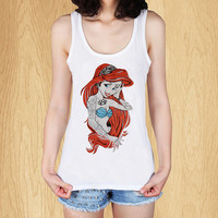"Tattoo Rebel Little Mermaid Ariel Tank, Tank Top, Women Tanktop, Tanktop T Shirt - Size Print (12""x12"")"