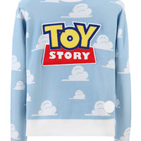 OPEN LOGO SWEATER / LIGHT BLUE