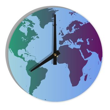 Best world clock map products on wanelo cool world map design 8 round wall clock all over print gumiabroncs Image collections