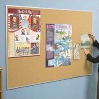 Best-Rite 4' x 5' Valu-Tak Bulletin Board with Aluminum Trim