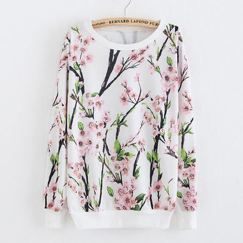 Exquisite printing loose sweater-2