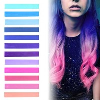 GALAXY HAIR Color | Ombre Hair Chalk Set of 12 | HairChalk - HairChalk