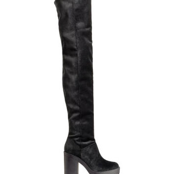 H&M Thigh high platform boots $69.99
