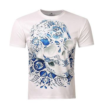 Unisex Mens t Shirts Fashion 2017 Men's Wear 3D Printed Skull t shirt Homme Brand Clothing Funny t shirts Compression BIANYILONG