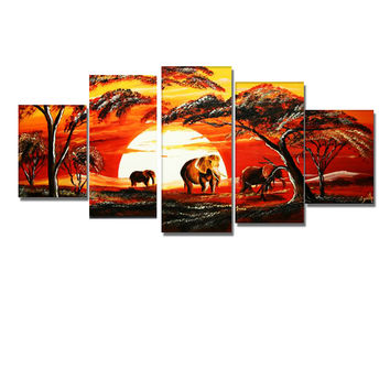 Forest of Africa Canvas Landscape Canvas Wall Art Oil Painting