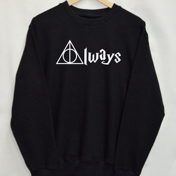 Deathly Hallows Harry Potter Clothing Sweater Sweatshirt Top Tumblr Fashion Slogan Funny Jumper
