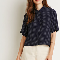 Boxy Dot Patterned Blouse