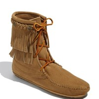 Women's Minnetonka 'Double Fringe Tramper' Boot,