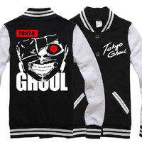 Hot Anime Tokyo Ghouls Clothing Unisex Baseball Uiform Jackets Sweater Coat