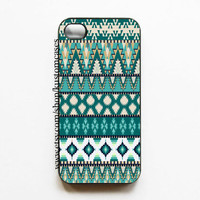 iPhone 4 4s Tribal Aztec Hard iPhone Case Comes in Black or White
