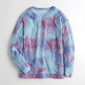 Girls Oversized Crewneck Sweatshirt | Girls New Arrivals | HollisterCo.com