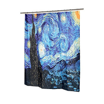Park Avenue Deluxe Collection Park Avenue Deluxe Collection  inch The Starry Night inch  Fabric Shower Curtain
