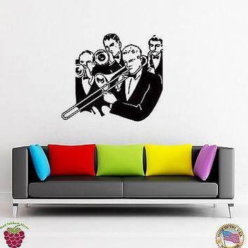 Wall Stickers Vinyl Decal Jazz Music Band For Living Room  Unique Gift (z1632)