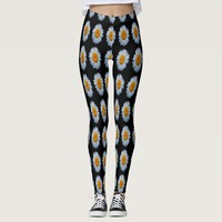 Daisy Print Leggings - Multiple colors available