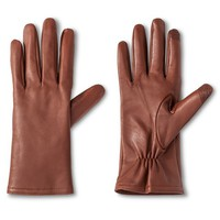 Women's Touch Screen Compatible Sheepskin Leather Gloves Cognac - Merona™