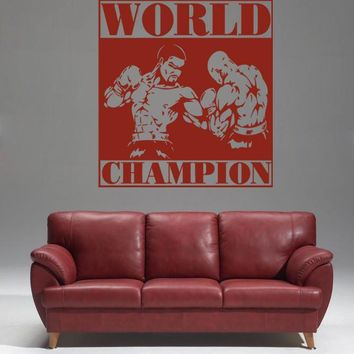 ik1383 Wall Decal Sticker kick boxing ring Gloves Tournament living room gym