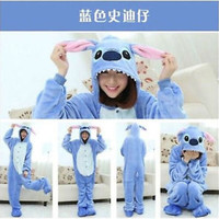 Unisex Adult Kigurumi Pajamas Anime Cosplay Costume Onesuit Sleepwear Stitch