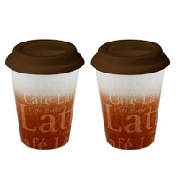 Konitz Wow-To-Go Travel Mugs in Brown (Set of 2)