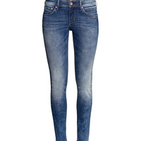 H&M - Skinny Low Jeans - Denim blue - Ladies