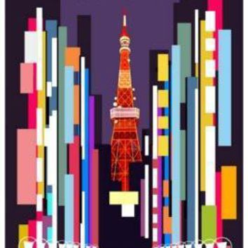 Cars 2 Tokyo Poster Standup 4inx6in
