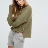 Micha Lounge Tie Side Sweater at asos.com