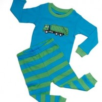 "Leveret Little boys ""Garbage Truck"" 2 Piece Pajama 100% Cotton 6M-8 Years)"