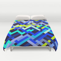 Lime & Navy No. 2 Duvet Cover by House of Jennifer
