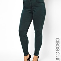 ASOS CURVE Exclusive Ridley Jean In Acid Wash Forest Green